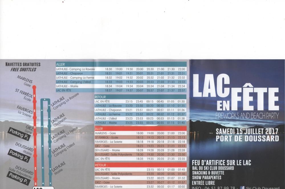 nouveauté 2017 pour Lac en Fête
